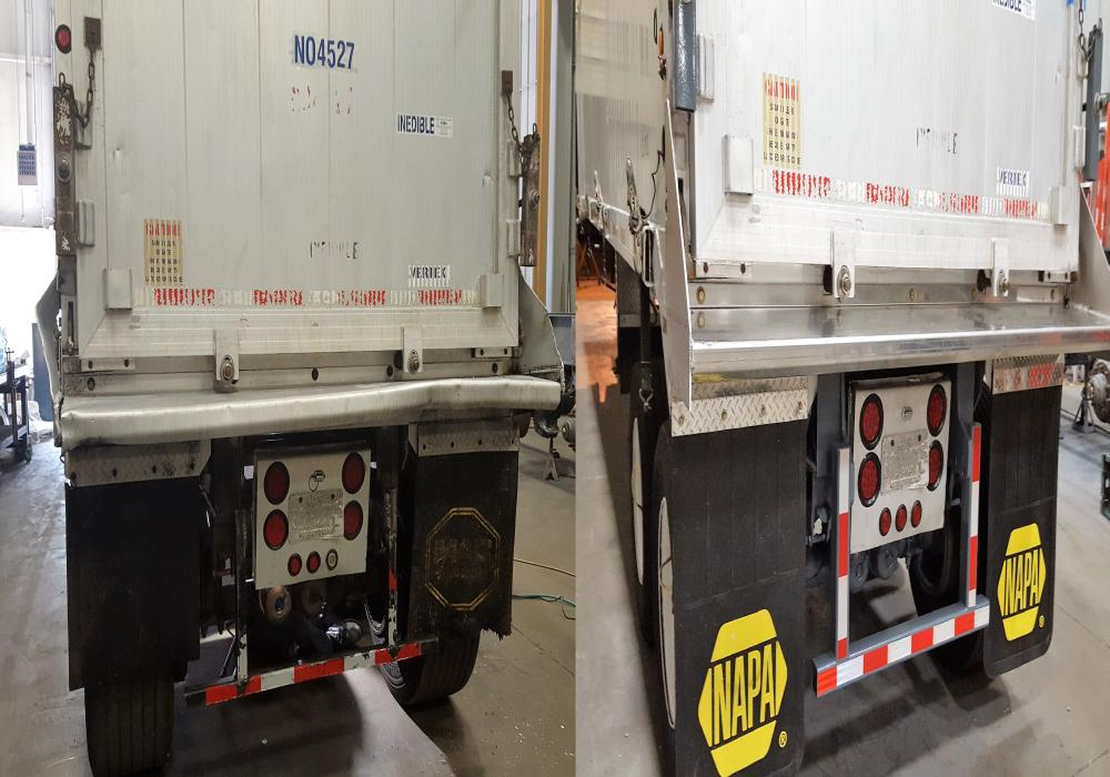 Before And After trailer repairs