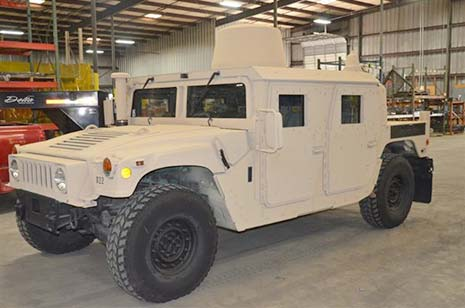CARC Coating on a Military Vehicle