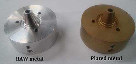 Comparison of raw metal vs. plated metal