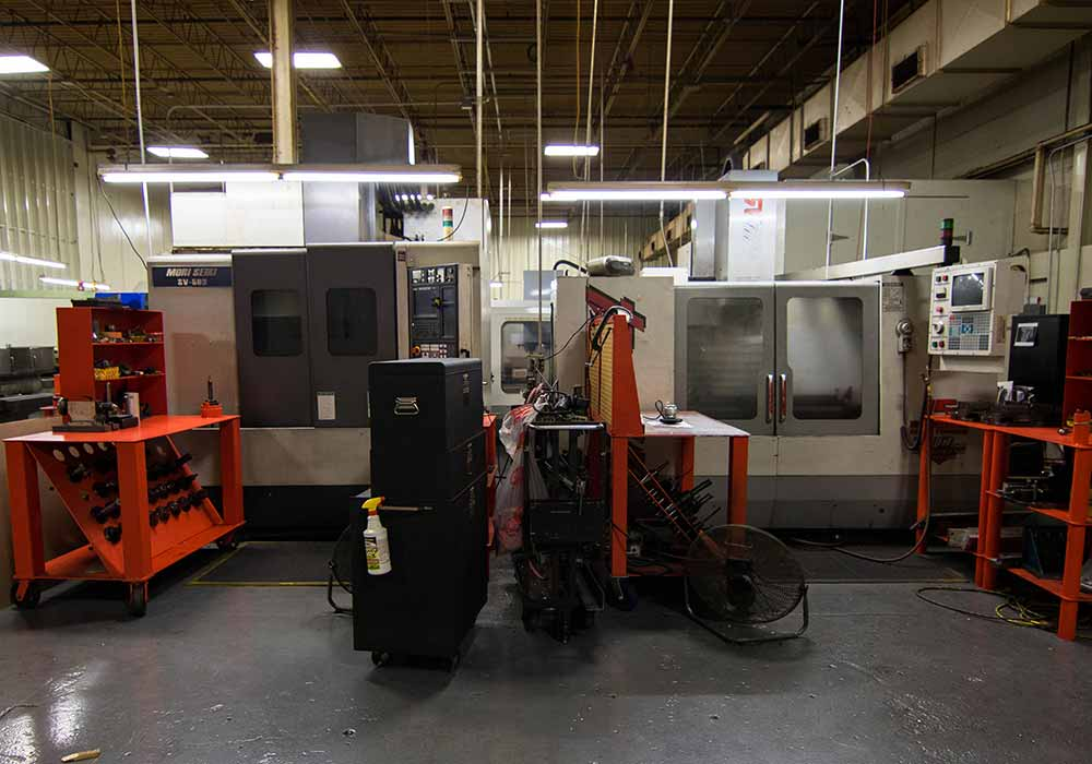 Mori Seiki And HAAS Side By Side